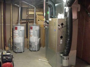 two high-efficiency large hot water tanks