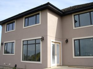 hi-insulated windows, low E, triple glaze gas filled